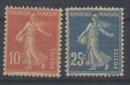 Frankreich, **, 1906, Säerin Auf Glattem Grund, (GC-Papier) , YT: 138j, 140r /  Mi: 117 By, 119 By - 1906-38 Semeuse Camée