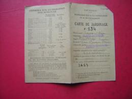 CARTE DE JARDINAGE   N° 134    2 VOLETS  1943 - Vieux Papiers