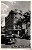 ! 1955 Ansichtskarte aus Beirut, Beyrouth, Hotel Normandy, Automobile, Libanon, TWA airmail