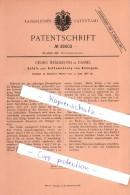 Original Patent  - Georg Wenderoth In Cassel , 1886 , Blutegel - Aufbewahrung , Arzt , Medizin , Heilung , Kassel !!! - Historische Dokumente