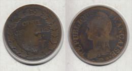 France 5 Centimes An 8 W - 1789 – 1795 Monete Costituzionali