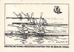 BERLIN. Carte Avec Oblitération De 1951. Canoë-kayak. - Kano