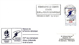 OLYMPISCHE SPIELE-OLYMPIC GAMES, FRANCE, 1992, Special Postmark !! - Winter 1992: Albertville