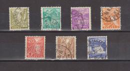 1934 Serie Courante Mi No 270/276 Et Yv No 271/276 Serie Complete - Schweiz