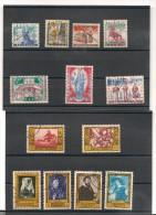 BELGIQUE Année 1958 N°Y/T : 1076/1088 Oblitérés Côte: 25 €