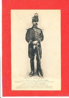 Portrait Emile DRIANT Cpa Animée Commandant Chasseur A Pieds - War 1914-18