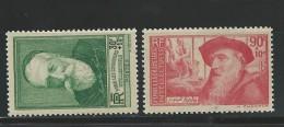 1937 - YVERT N° 343/44 * CHARNIERE - COTE = 9.3 EUR. - Ungebraucht