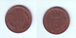 Denmark 1 Ore 1902 - Denmark
