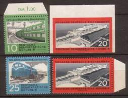 DDR , 1960 , Mi.Nr. 804 / 805 A / 805 B / 806 ** / MNH - [6] Repubblica Democratica