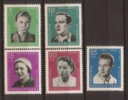 DDR , 1961 , Mi.Nr. 808 - 812 ** / MNH - [6] Repubblica Democratica