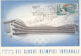 OLYMPISCHE SPIELE-OLYMPIC GAMES, ITALY, 1956, Special Cancellation !! - Inverno1956: Cortina D'Ampezzo