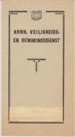 Brochure About Arnhem Veiligheids- En Bewakingsdienst - Safety And Security - 1935 - Boeken, Tijdschriften, Stripverhalen