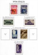Italia-MF-F00936 - 1951 - Sassone: N.653/659 (o) - - 6. 1946-.. Repubblica