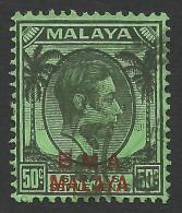 Malaya, BMA, Straits Settlements 50 C. 1945, Scott # 267, Used. - Malaya (British Military Administration)