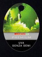 # EXTRA FRUTTA SEEDLESS TABLE GRAPE Italy Fruit Tag Balise Etiqueta Anhänger Cartellino Uva Raisin Uvas Traube - Fruits & Vegetables