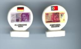 """2 f�ves Portugal et Allemagne de la S�rie """"L'euro 99"""""""