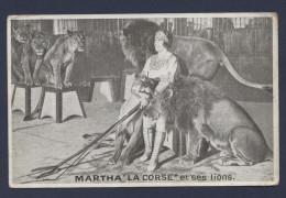 Martha La Corse Et Ses Lions - Zirkus