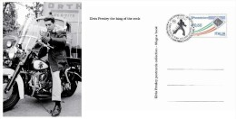 Italia 2013 - Postcard ELVIS PRESLEY The King Of The Rock - Special Postmark - Cantantes