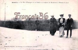 (64) Biarritz - Le Roi D'Espagne Et Sa Fiancée Se Rendent De Mouriscot à Biarritz à Pied - 2 SCANS - Biarritz