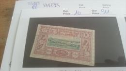 LOT 232953 TIMBRE DE COLONIE SOMALIS OBLITERE N�10 VALEUR 11 EUROS