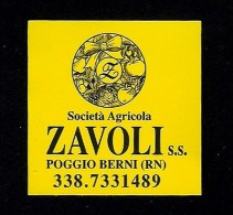 # ZAVOLI POGGIO BERNI Italy Tag Balise Etiqueta Anhänger Cartellino Vegetables Gemüse Legumes Verduras - Fruits & Vegetables