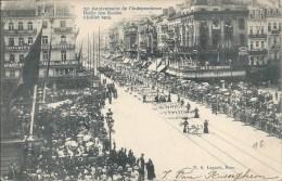 75 ANIVERSAIRE DE L´INDEPENDENDE DEFILE DES ECOLES 2 JUILLET 1905 (N° 2 LAGAERT BRUX) - Fêtes, événements