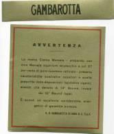 A 1073 - Etichetta, Crema Marsala, Gambarotta Di INGA, Serravalle Scrivia (Alessandria). - Etichette
