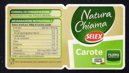 # CAROTE SELEX Italy Carrot Tag Balise Etiqueta Anhänger Cartellino Vegetables Gemüse Legumes Carotte Verduras - Fruits & Vegetables