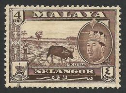 Malaya, Selangor 4 C. 1961, Scott # 116, Used. - Selangor