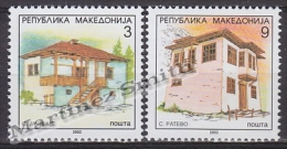 Macedonia 2002 Yvert 262A-62B, Definitive Set, Typical Houses (IX) - MNH - Macedonia