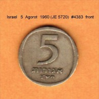 ISRAEL   5  AGOROT  1960 (JE 5720)  (KM # 25) - Israel
