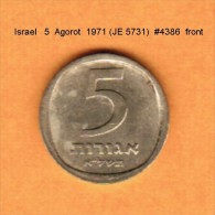 ISRAEL   5  AGOROT  1971 (JE 5731)  (KM # 25) - Israel