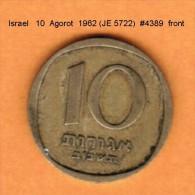 ISRAEL   10  AGOROT  1962 (JE 5722)  SMALL DATE (KM # 26) - Israel