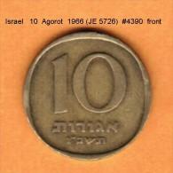 ISRAEL   10  AGOROT  1966 (JE 5726)  (KM # 26) - Israel