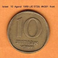 ISRAEL   10  AGOROT  1969 (JE 5729)  (KM # 26) - Israel