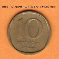 ISRAEL   10  AGOROT  1971 (JE 5731)  (KM # 26) - Israel