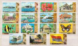 Kiribati MNH Overprinted Set, Some Gum Disturbances! - Kiribati (1979-...)