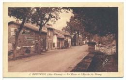 CPSM Berneuil 87 La Poste Et L'entrée Du Bourg Picon Byrrh - Autres Communes