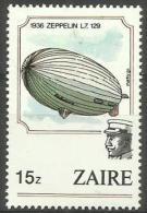 Zaire - 1984 Zeppelin Balloon From 1936 15z MH *  SG 1206  Sc 1165 - Zaire