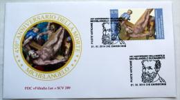 VATICANO 2014 - TWO  FDC  450TH ANNIVERSARY DEATH MICHELANGELO - Vatican