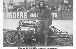 "¤¤  -   Motocycliste Entraineur "" Maurice GRELINGER ""   -  Moto , Publicité Des Huiles ANTAR    -  ¤¤ - Motos"