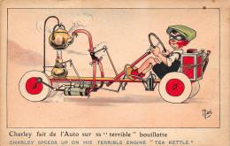 """¤¤  -  Illustrateur  """" MICH  """"  -  Charley Fait De L'Auto Sur Sa Terrible Bouillotte  -  ¤¤ - Mich"""