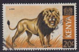 Kenya 1966 Animals - Lion, Used (o) - Kenya (1963-...)