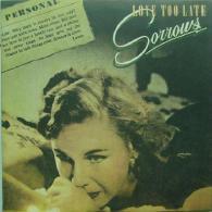 * LP *  SORROWS - LOVE TOO LATE (USA 1981) - Rock