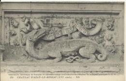 Château D'Azay-le-Rideau - (XVIe Siècle) Salamandre Héraldique De François 1er Décorant L'allège D'une Fenêtre - Azay-le-Rideau