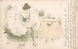"""ILLUSTRATEUR JACQUES WELY SERIE """" PARIS QUI DANSE """" DANSEUSE 1900 - Non Classés"""