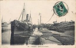 CALAIS QUAI DE LA LOIRE BATEAU PAQUEBOT 62 - Calais