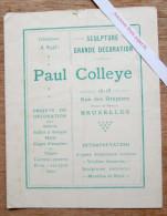 Sculpture, Grande Décoration, Paul Colleye, Rue Des Drapiers, Bruxelles - Old Paper