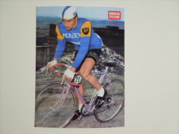 CYCLISME CICLISMO RADSPORT WIELRENNEN : POULIDOR En MERCIER Encart Miroir Du Cyclisme  Reproduction - Cyclisme