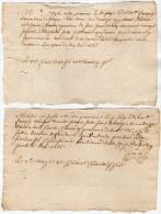VP1293 - Cachet Généralité X 2 -  Ville De POITIERS - J. SALLER Seigneur Du Verger - Seals Of Generality